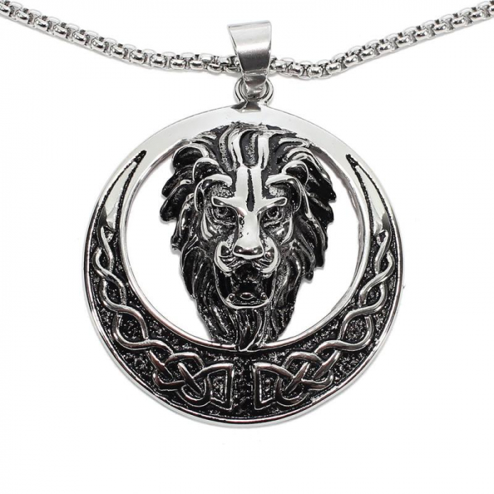 Medalion Stainless Steel - Celtic Lion 0