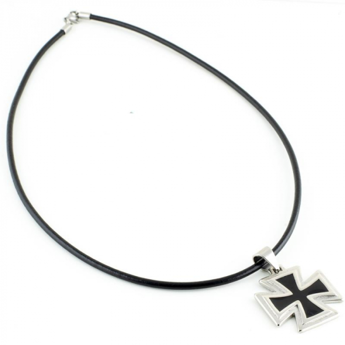 Medalion Stainless Steel - Iron Cross 2 cu snur 1