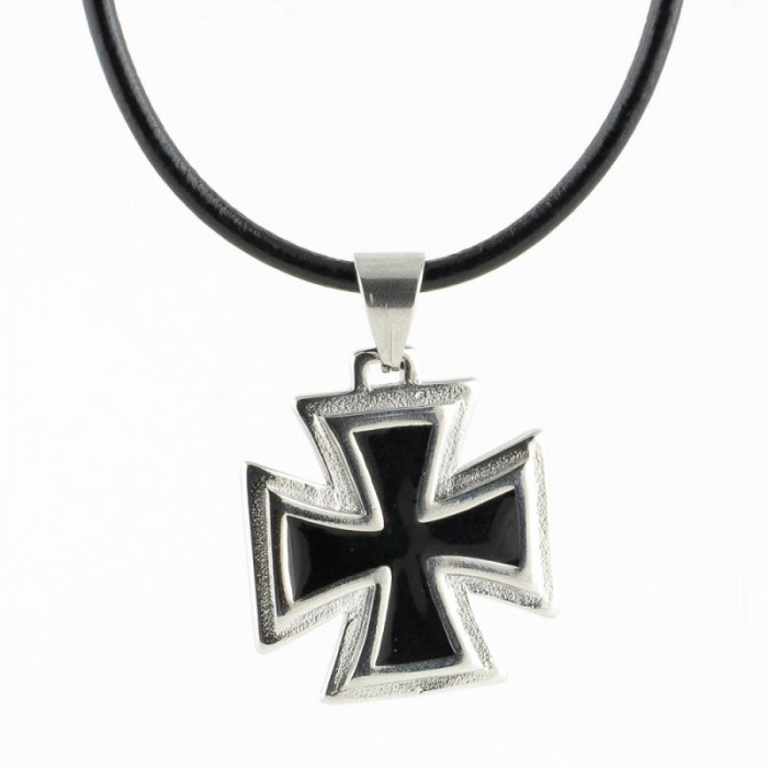 Medalion Stainless Steel - Iron Cross 2 cu snur 0