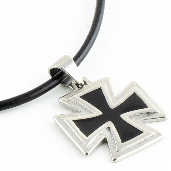 Medalion Stainless Steel - Iron Cross 2 cu snur 2