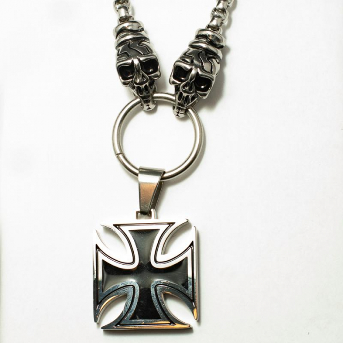 Medalion Stainless Steel - Iron Cross cu Lant 0