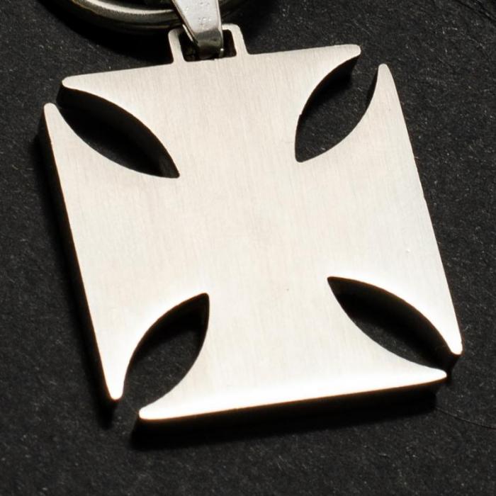 Medalion Stainless Steel - Iron Cross cu Snur [1]