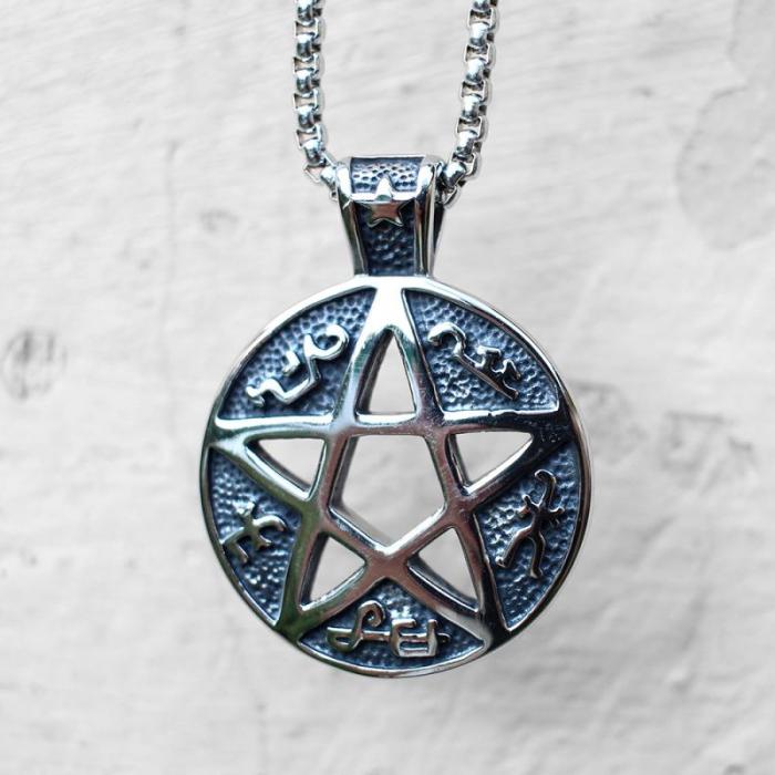 Medalion Stainless Steel -  Magic Pentagram [0]