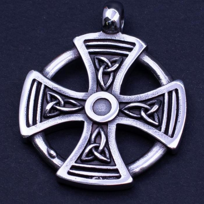 Medalion Stainless Steel - Maltese Cross 0