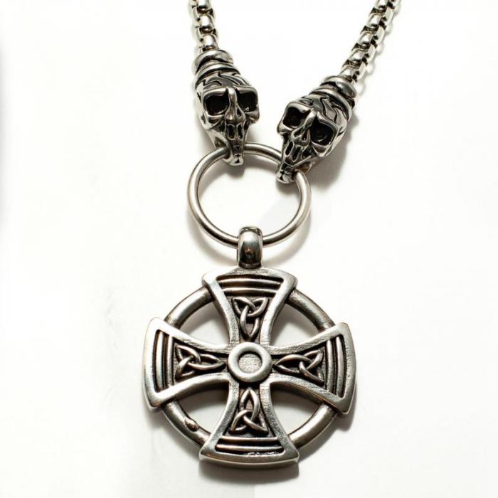 Medalion Stainless Steel - Maltese Cross cu Lant 0