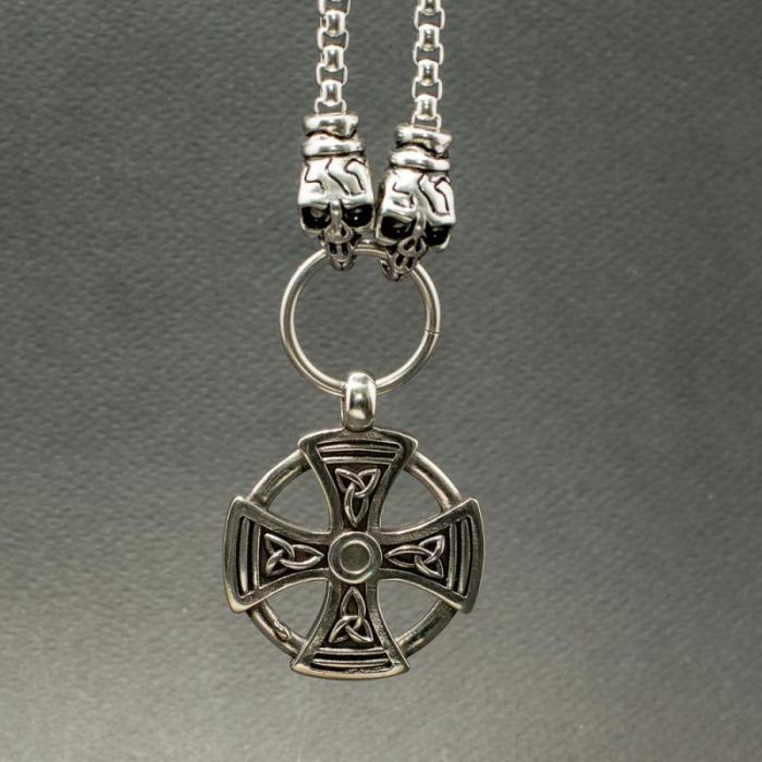 Medalion Stainless Steel - Maltese Cross cu Lant 1