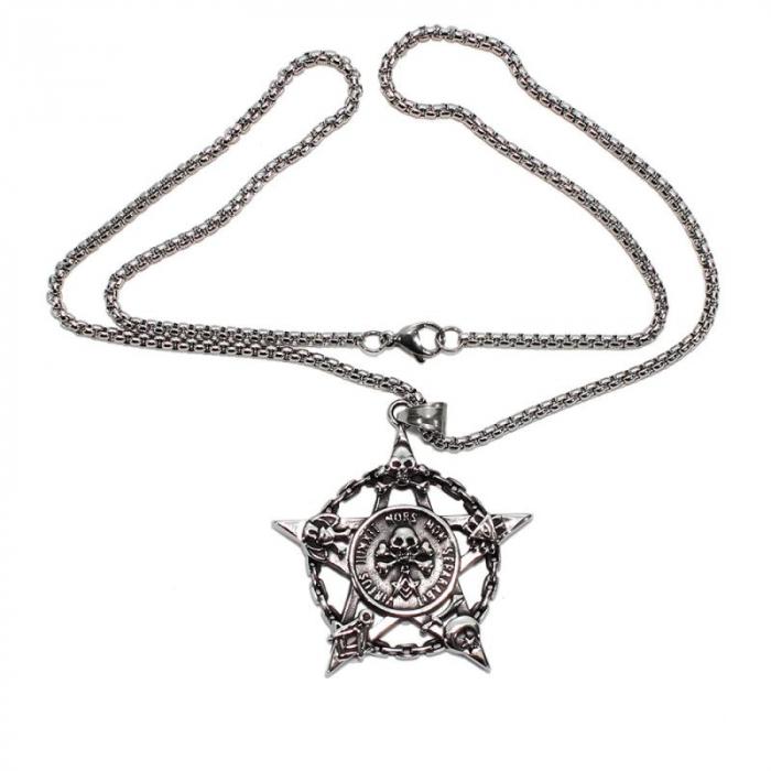 Medalion Stainless Steel - Pentagrama Masonica 1