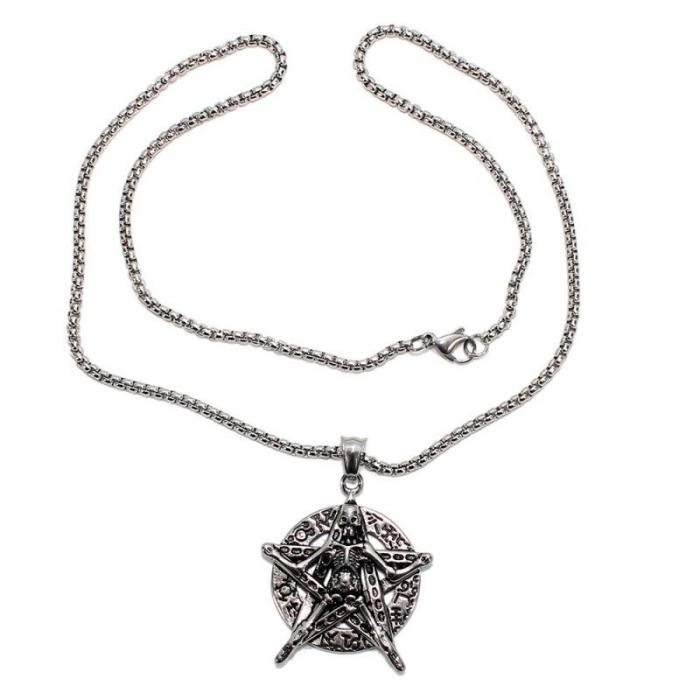 Medalion Stainless Steel - Petagrama Schelet 1
