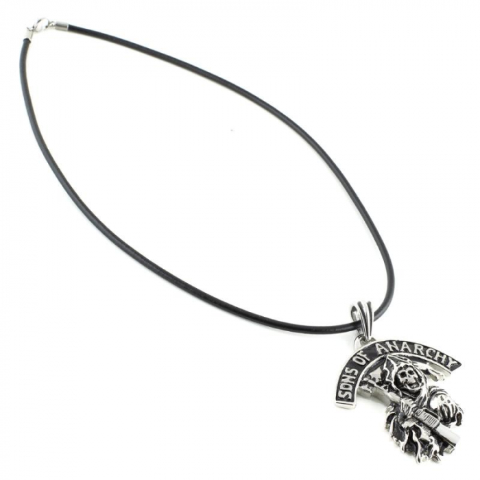 Medalion Stainless Steel - Sons of Anarchy cu snur [1]