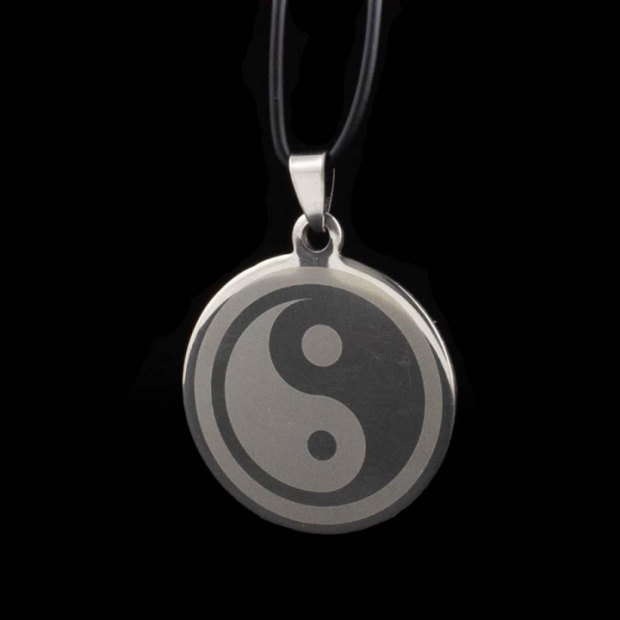 Medalion Stainless - Ying Yang Mare 0