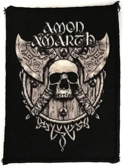 Patch Amon Amarth - Skull and Axes 0