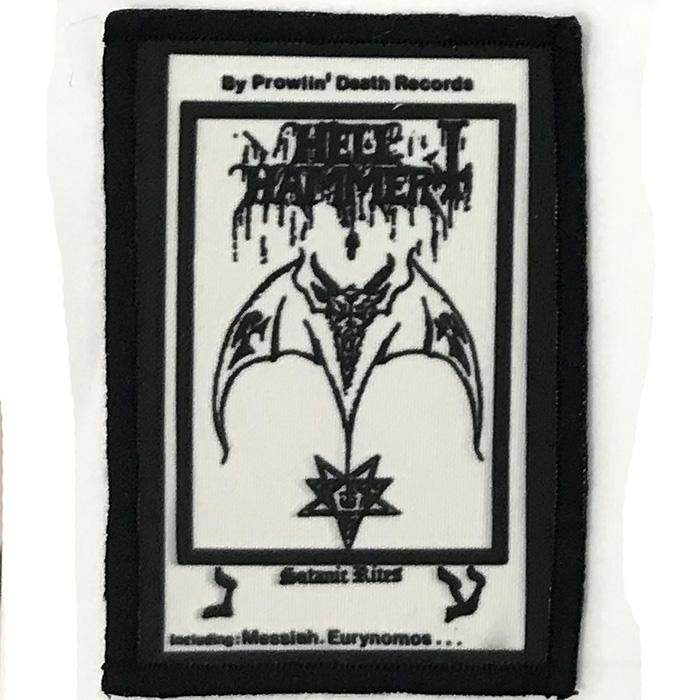Patch HellHammer - Satanic Rites White 0
