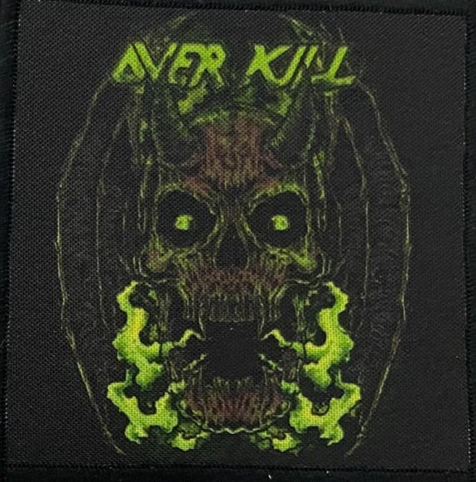 Patch Overkill - Green Skull 0