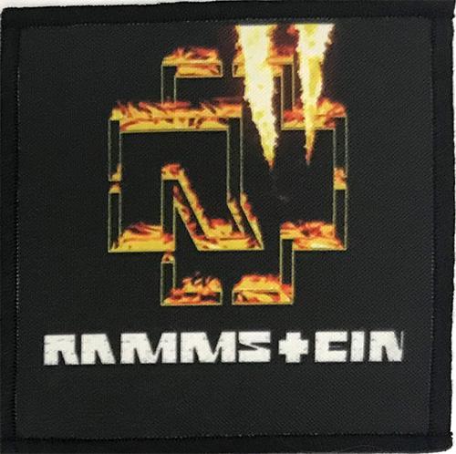 Patch Rammstein - Logo In Flames 2 0