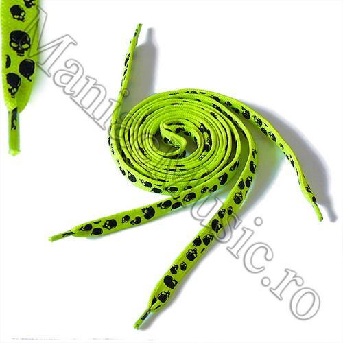 Sireturi Verde Fluorescent - Cranii Diverse 0