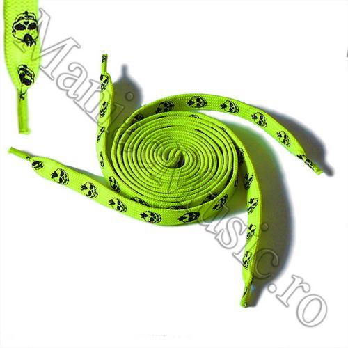 Sireturi Verde Fluorescent - Punk Skulls 0