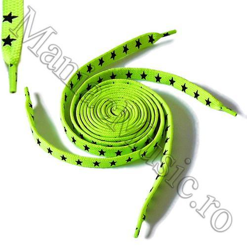 Sireturi Verde Fluorescent - Stars 0
