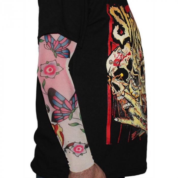 Tattoo Sleeve - Butterfly Flowers 0