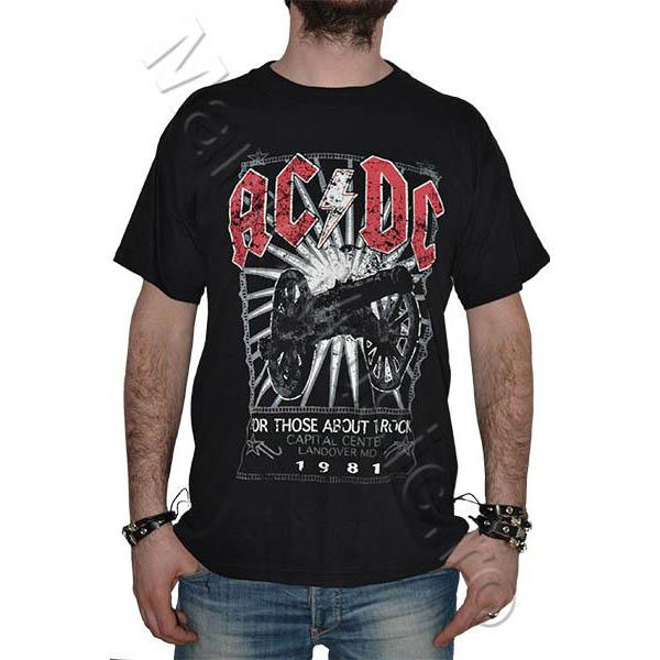 Tricou AC DC- For Those About Rock -1981 - 180 grame 0