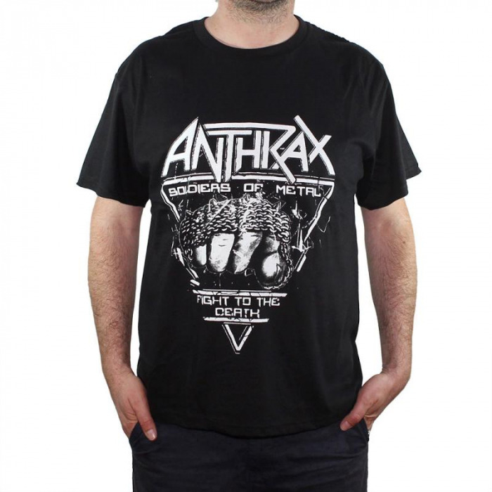 Tricou Anthrax- Soldiers Of Metal - 180 grame 0