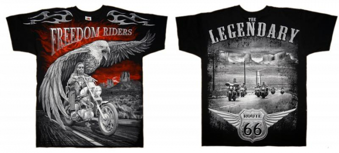 Tricou biker full printed - Freedom 2