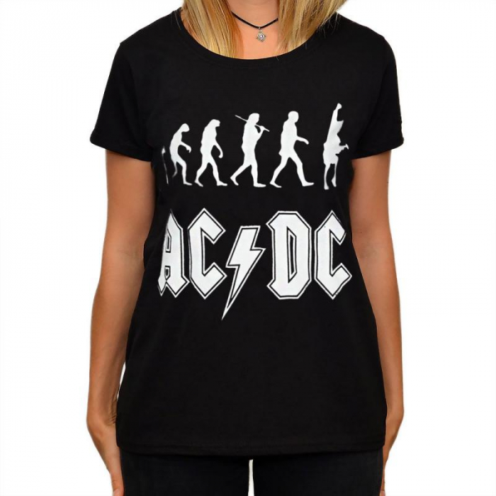 Tricou Femei AC DC- Rock Evolution 0