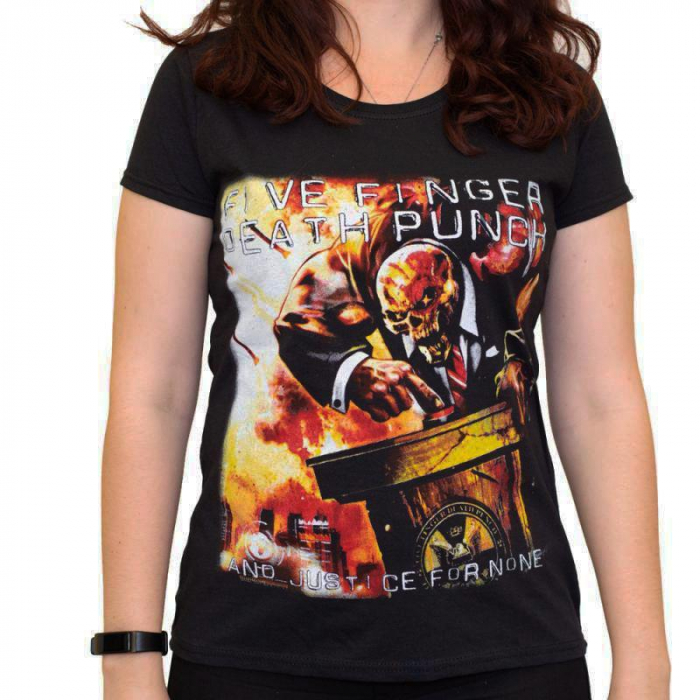 Tricou Femei Five Finger Death Punch - And Justice for None 2 0