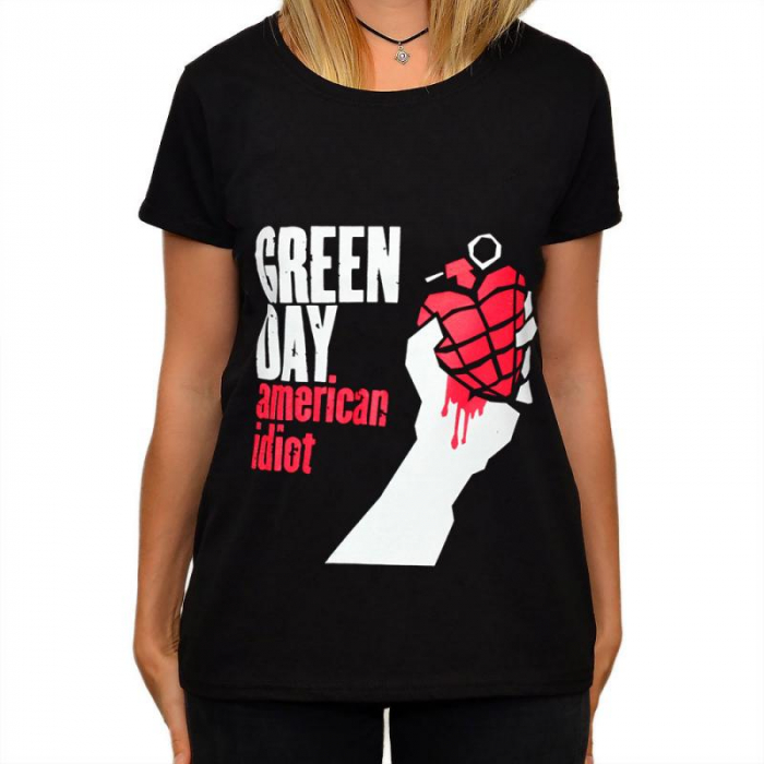 Tricou Femei Green Day - American Idiot 0