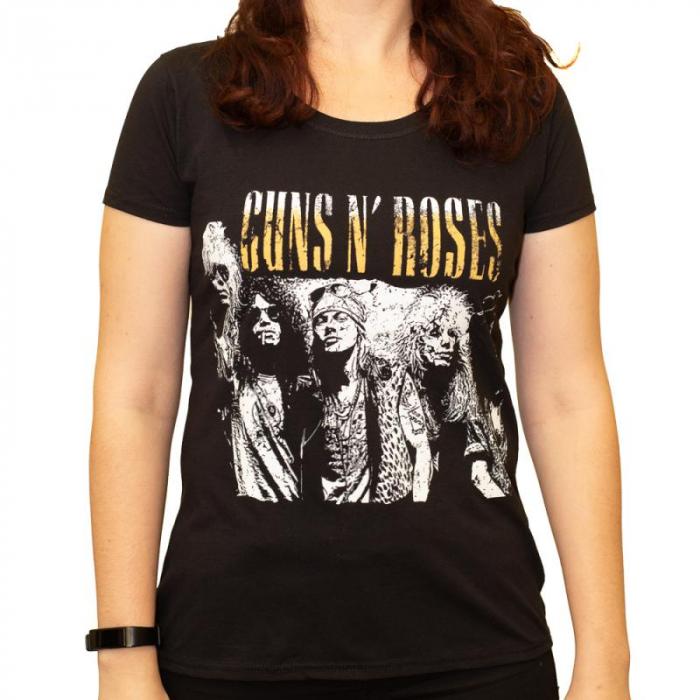 Tricou Femei Guns N Roses - Band White 0