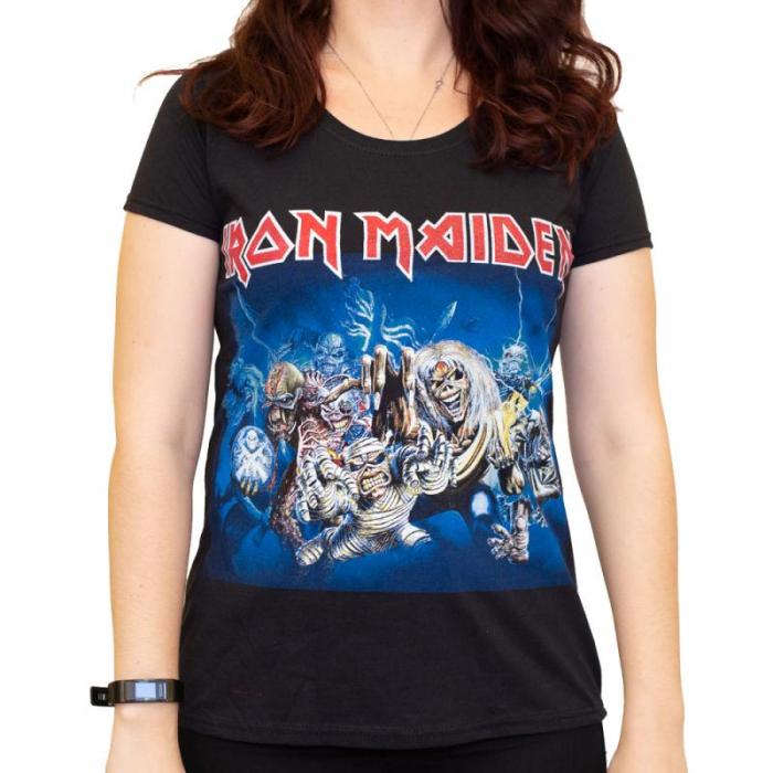 Tricou Femei Iron Maiden - Eddie Faces 0