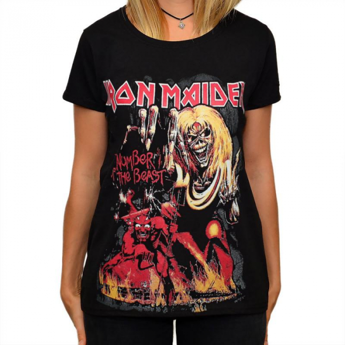 Tricou Femei Iron Maiden - The Number of the Beast 0