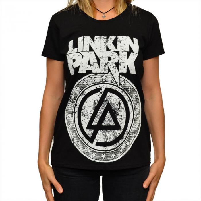 Tricou Femei Linkin Park - White Logo 0