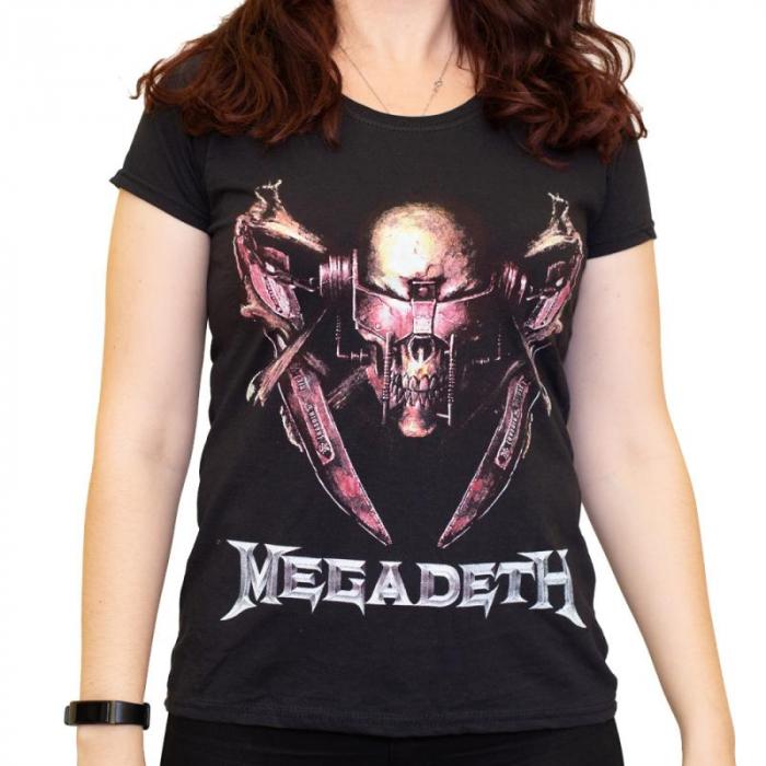 Tricou Femei Megadeth - Rattlehead [0]