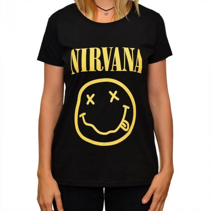 Tricou Femei Nirvana - Smiley 0
