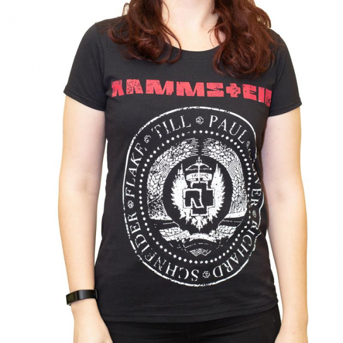 Tricou Femei Rammstein - Band Stamp 0