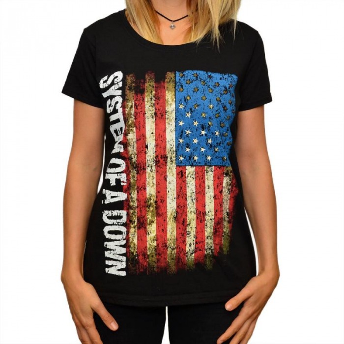 Tricou Femei System Of A Down - USA Flag 0