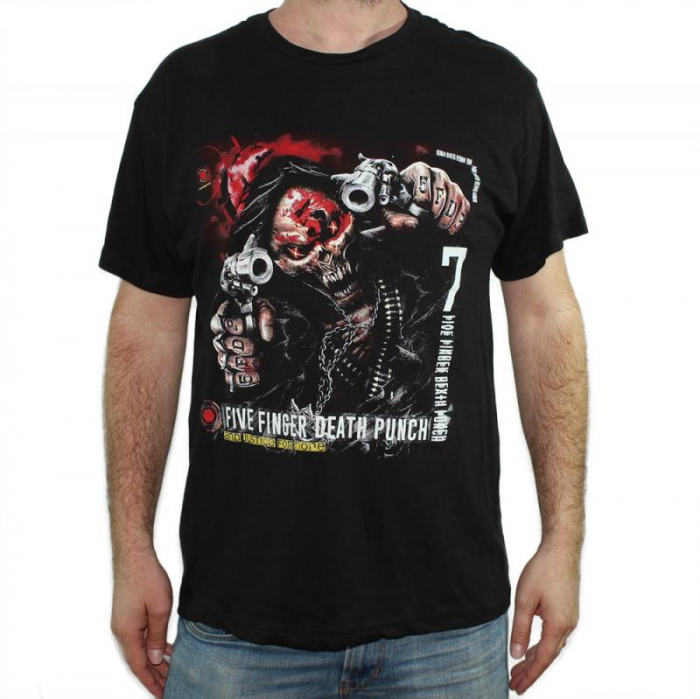 Tricou Five Finger Death Punch - And Justice For None - 145 grame 0