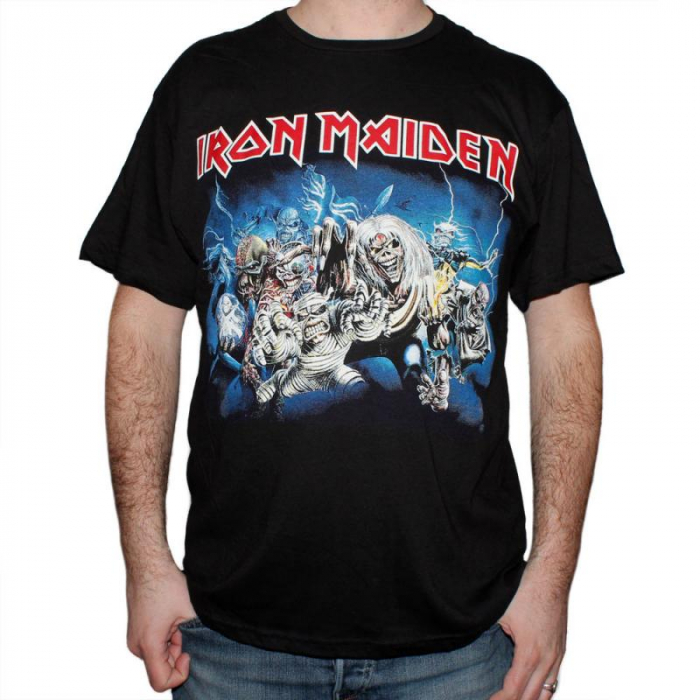 Tricou Iron Maiden - Eddie Faces - 145 grame 0