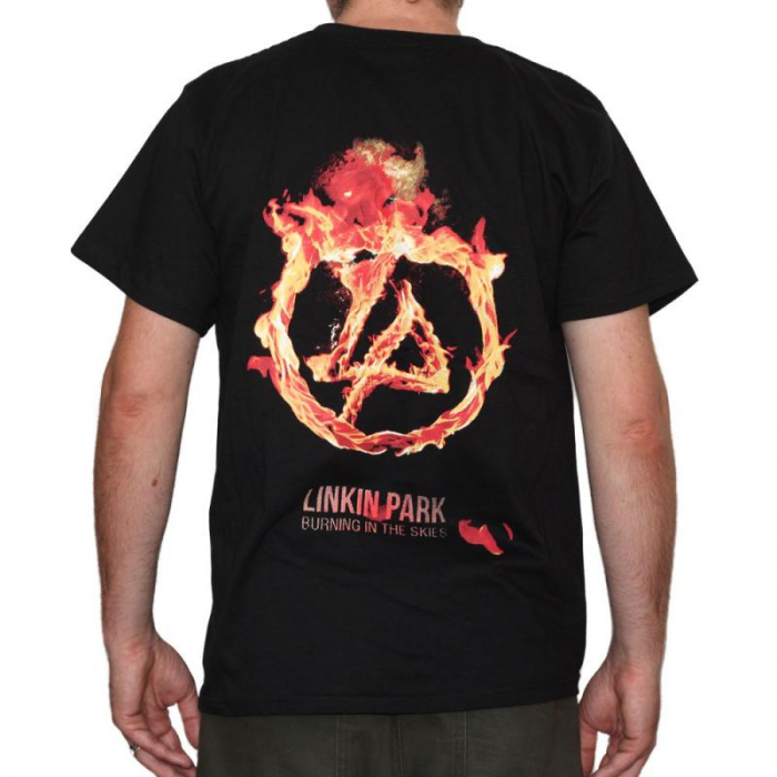 Tricou Linkin Park-Burning In The Skies- 180 grame 1
