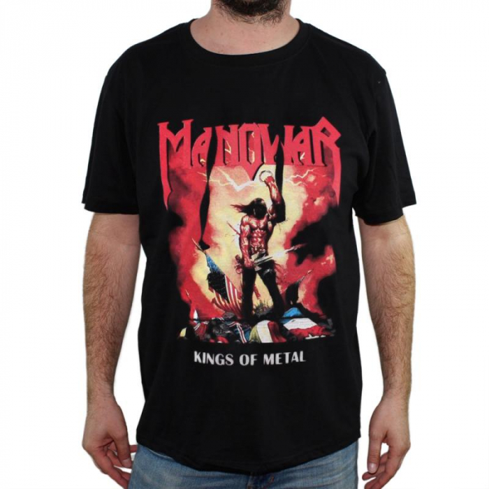 Tricou Manowar - Kings of Metal - 180 grame 0