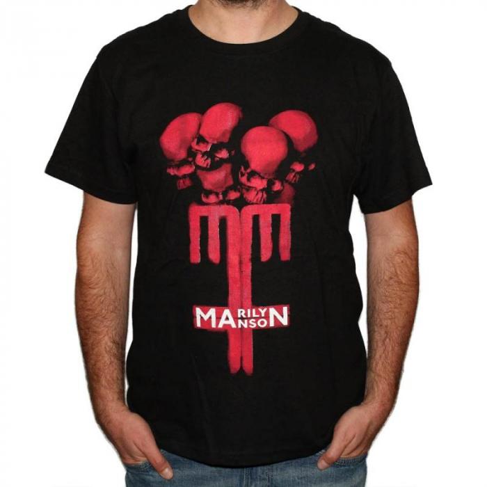 Tricou Marilyn Manson - Skulls - 180 grame 0