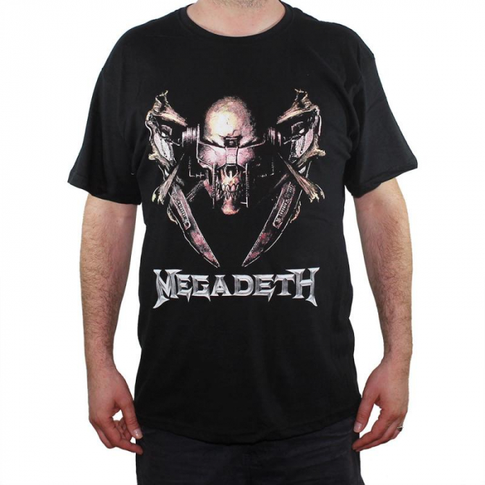 Tricou Megadeth - Electric Rattlehead - 145 grame 0