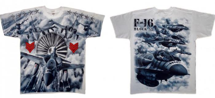 Tricou Military full printed - F16 Block 52 2