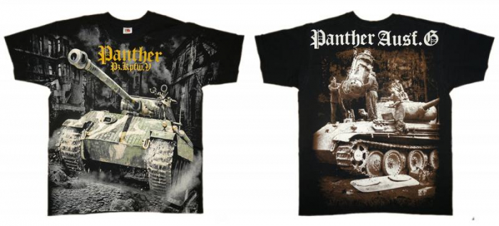 Tricou Military full printed - Panther Tank WWII 2