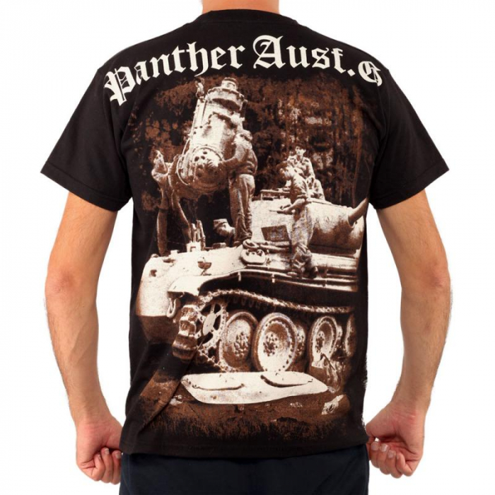 Tricou Military full printed - Panther Tank WWII 1
