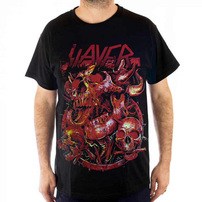 Tricou Slayer - Head Inferno - Fruit Of The Loom [0]