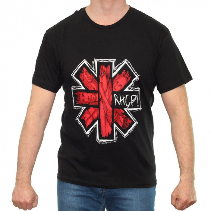Tricou Red Hot Chili Peppers - Faces Logo - 145 grame 0