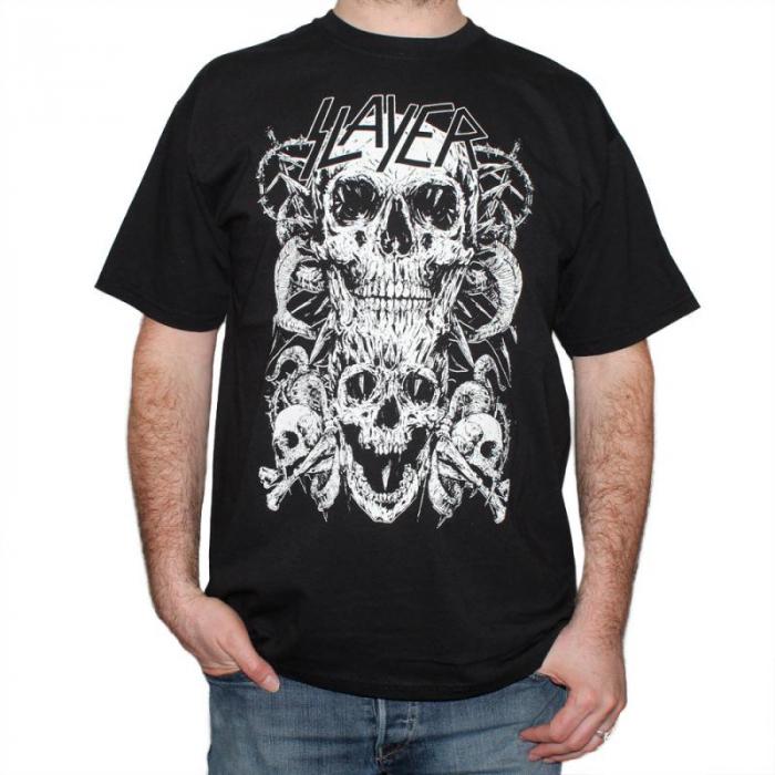 Tricou Slayer - Skull & Bones - 180 grame 0