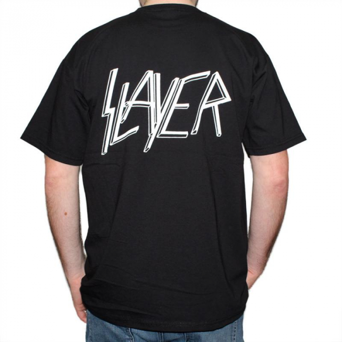 Tricou Slayer - Skull & Bones - 180 grame 1
