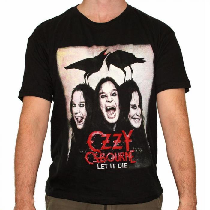 Tricou Ozzy Osbourne - Let It Die - 145 grame 0